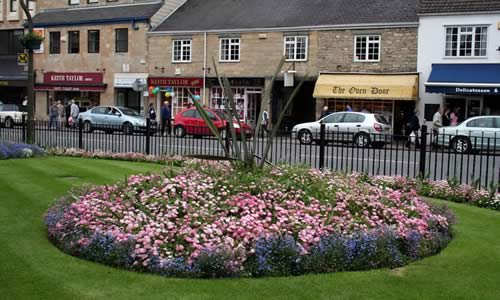 Flowerbed in Wetherby town centre